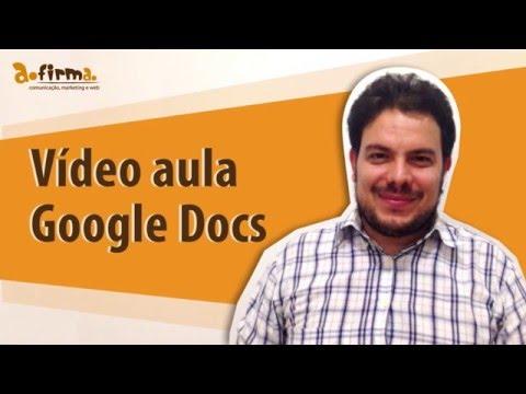 Como usar o Google Docs (o Word do Google), Passos a Passo - Vídeo Aula Afirma