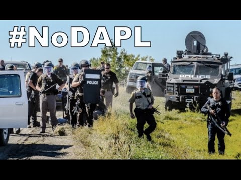 Militarized Police Raid Standing Rock Protest, Point Guns at Protestors | #NoDAPL