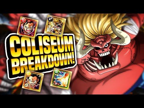 COLISEUM OARS! Stages 1 - 3 Playthrough! 4x TEAMS! (ONE PIECE TREASURE CRUISE)