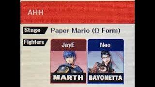 DEFEATING EVIL. JayE (Marth) vs. Neo (Bayonetta)