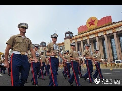 The opening parade of 5th Nanchang Internation Military Tattoo