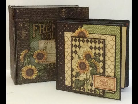 How to Make a quick and easy 5 x 5 Mini Album French Country Graphic 45