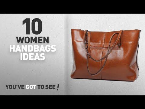 Top 10 Leather Handbag [ Winter 2018 ]: Covelin Women's Handbag Genuine Leather Tote Shoulder Bags