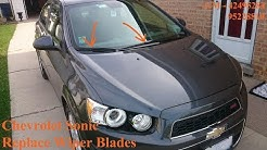 Chevrolet Sonic - Replace Wiper Blades