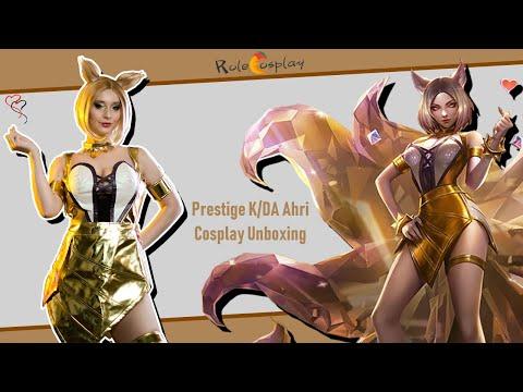 Prestige K/DA Ahri Cosplay Unboxing|Rolecosplay & Kotyashenka