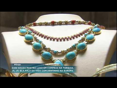 Dani Souza e Gugu fazem compras em mercado de luxo na Turquia