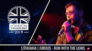 Jurij Veklenko - Run With The Lions (Lithuania) | LIVE | OFFICIAL | 2019 London Eurovision Party