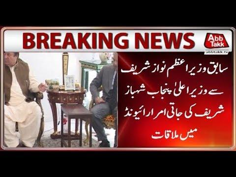 Lahore: CM Punjab Shahbaz Calls On Ex-PM Nawaz Sharif At Jati Umra