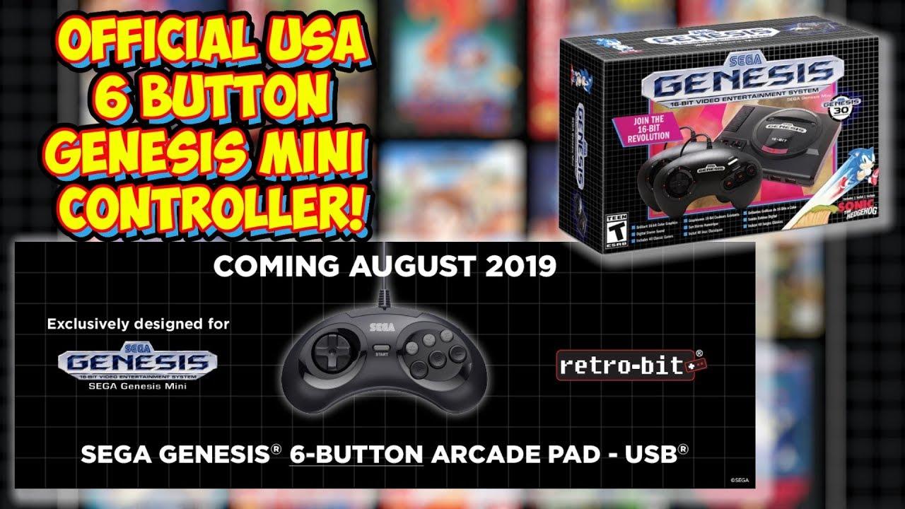 Official 6 Button Controller Announced For Genesis Mini - Retro-Bit X Sega!