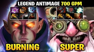 BURNING Anti-Mage with SUPER Sniper - 700 GPM Both Player