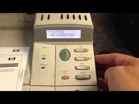HP LaserJet 4000/4050/4100/5000/5100 Printer Series - Printing a Configuration Page (Self-Test)
