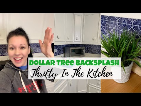 BEAUTIFUL Kitchen Backsplash DIY   Dollar Tree Find!