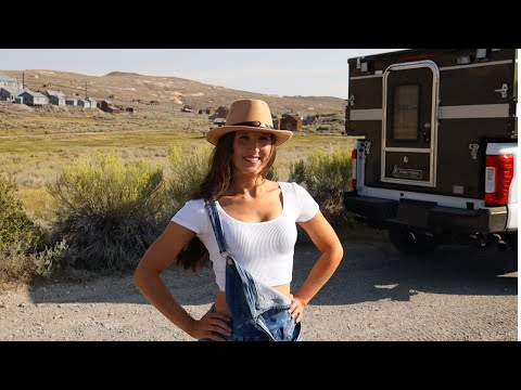 Overland Camping to Gold Mining Ghost Town - Truck Camper Van Life Adventure