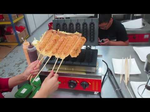 How to make Waffle Hot Dog Stick