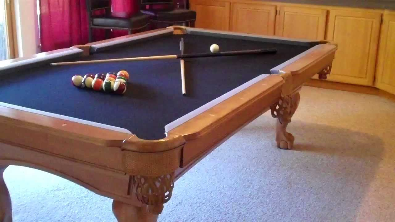 Beau 8 Foot Pro Line Solid Maple Slate Pool Table   $1000   YouTube