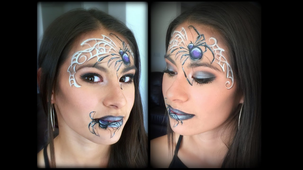 Uncategorized Spiderweb Face Paint spider queen makeup and face painting youtube