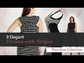 Elegant Plus Size Dresses With Stripes