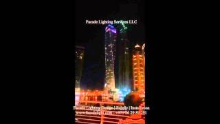 Cayan Tower New Year 2016 Lighting Fireworks