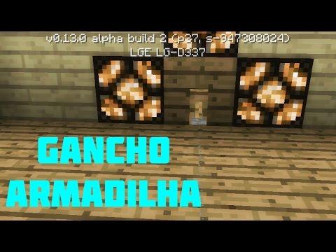 0.13.0°como Usar O Gancho De Armadilha! Minecraft Pocket Editon 0.13.0!