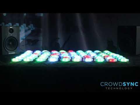 CrowdSync Automatic LED Wristband Demo