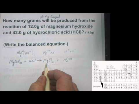 Mg(OH)2 + HCl
