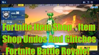Fortnite Item Shop - Item Shop Undos And Glitches, Fortnite Battle Royale!