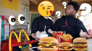 MY EX TOLD ME SHE DOESN'T LIKE MY NEW GIRLFRIEND AND WANTS ME BACK! *McDonalds Mukbang*
