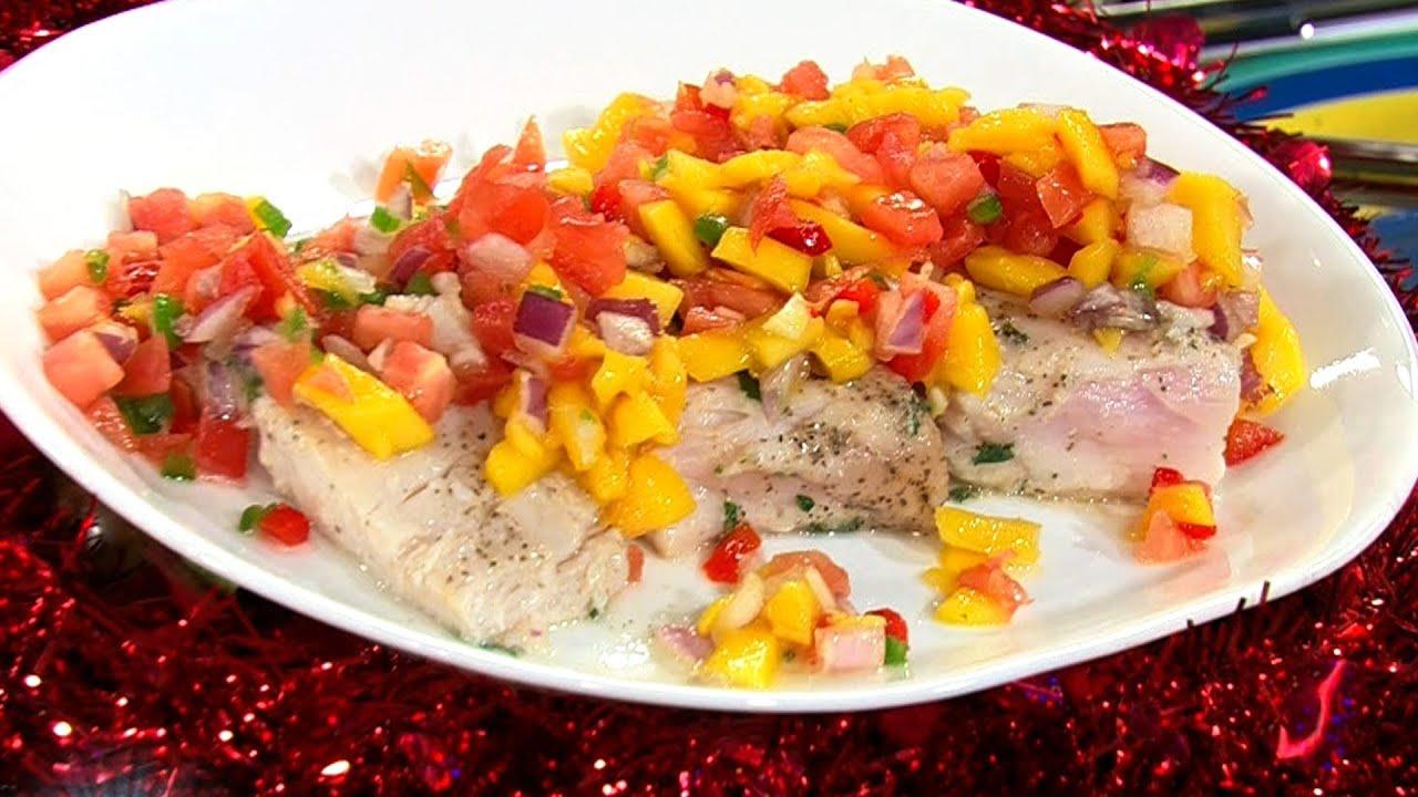 receta para preparar salmon en salsa de mango