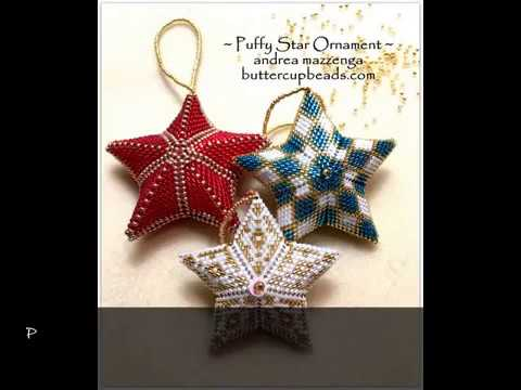 Puffy Star Beaded Ornament By Buttercupbeads Com Youtube