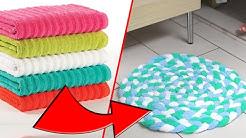 DIY Towel Bathmat Rug- Recycle Old Towels!