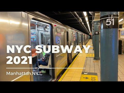 NEW YORK CITY SUBWAY 2021#trains#Manhattan#nyc#trainspotting