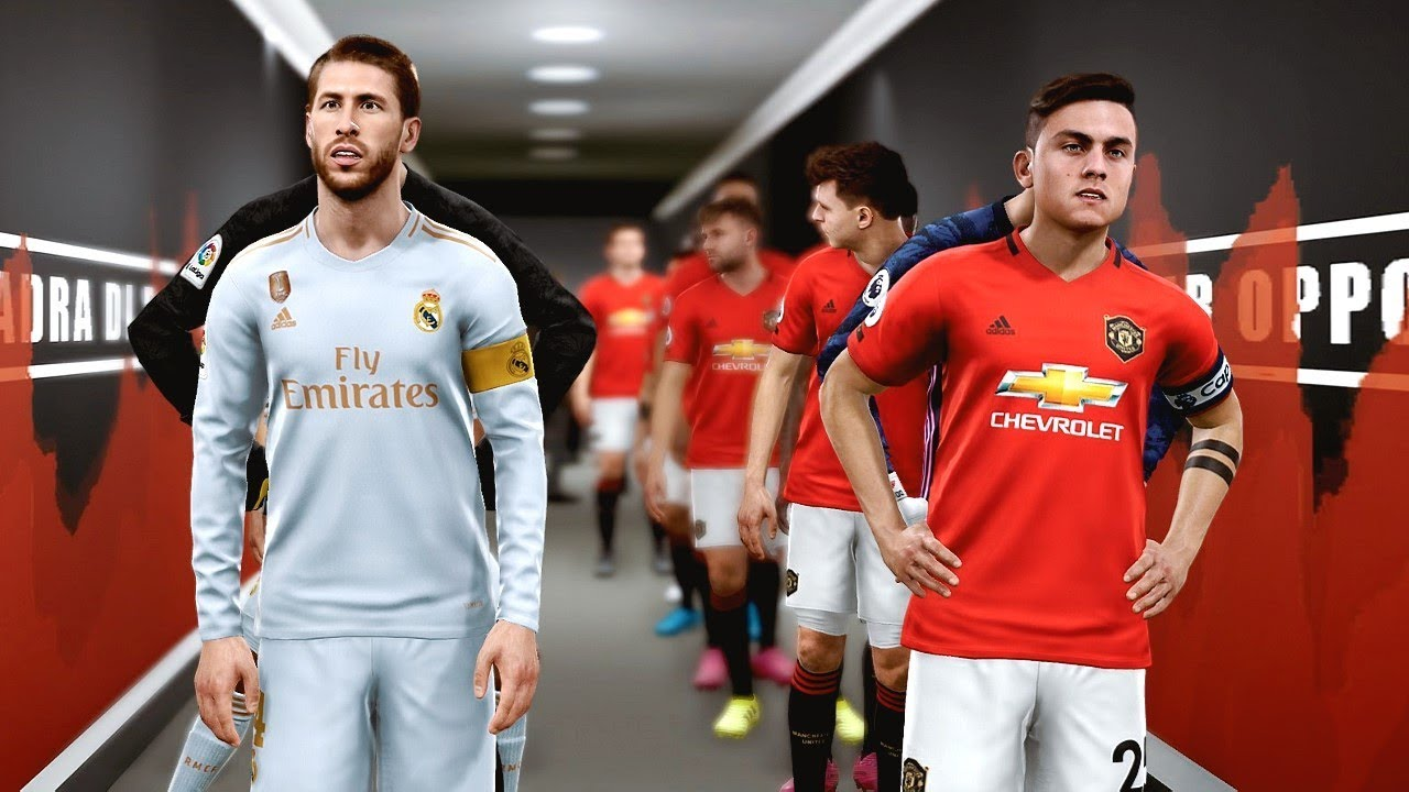 Man United vs Real Madrid ft Dybala , Mandzukic , van de Beek | PES 2019