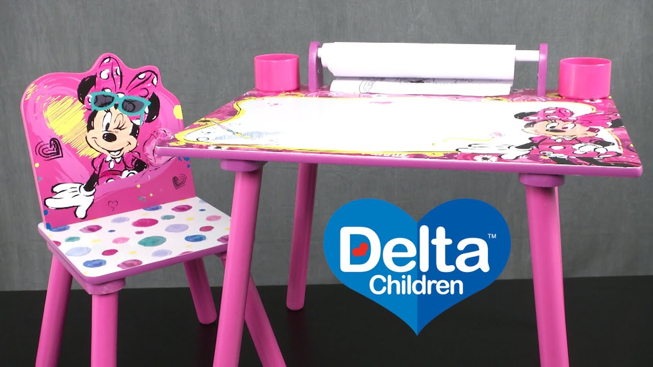 Minnie Mouse Art Desk From Delta Children S