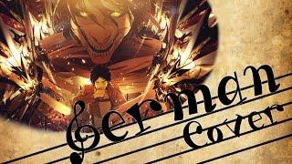 ~✿✿~ Attack on Titan ED 『Great Escape - Der Ausbruch』 feat. Aki Tominaga - German Fancover