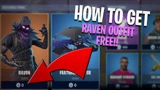 *NEW* Fortnite Raven Skin for FREE!! (+ Glider) - Fortnite: Battle Royale Raven Outfit Gameplay