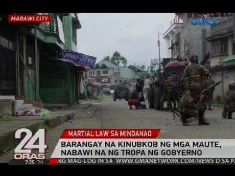 Barangay na kinubkob ng mga Maute, nabawi na ng tropa ng gobyerno
