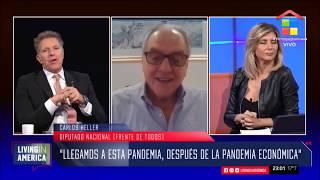 19-04-2020 — Carlos Heller en América TV — Living in América, con Alejandro Fantino y Débora Plager
