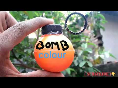 how to make a grenade bomb /how to make a bomb colour/homemade colourfull bomb