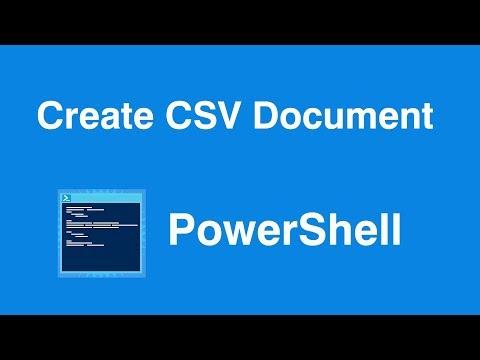 Windows Powershell Create CSV File - YouTube