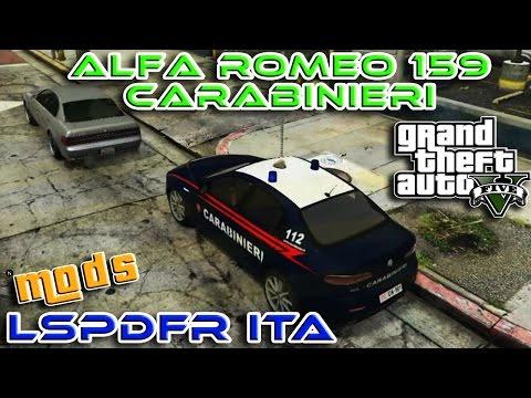 GTA 5 MOD ITA - ALFA ROMEO 159 CARABINIERI + SIRENA ITALIANA - GTA 5 LSPDFR ITA POLIZIA - NYKK3