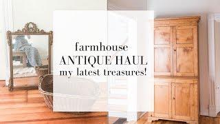 Farmhouse Antique Haul   Vintage Room Decorating Ideas