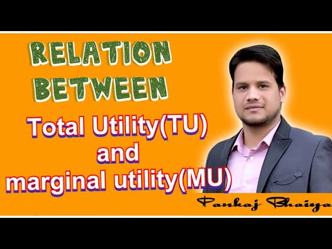 Relation between total utility and marginal utility full explanation with diagram in hindi TU and MU