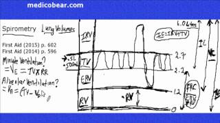 Spirometry, Lung Volumes, Minute Ventilation, Alveolar Ventilation, Dead Space Step 1