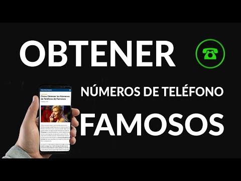 Cómo Conseguir los Números de Teléfono de Famosos
