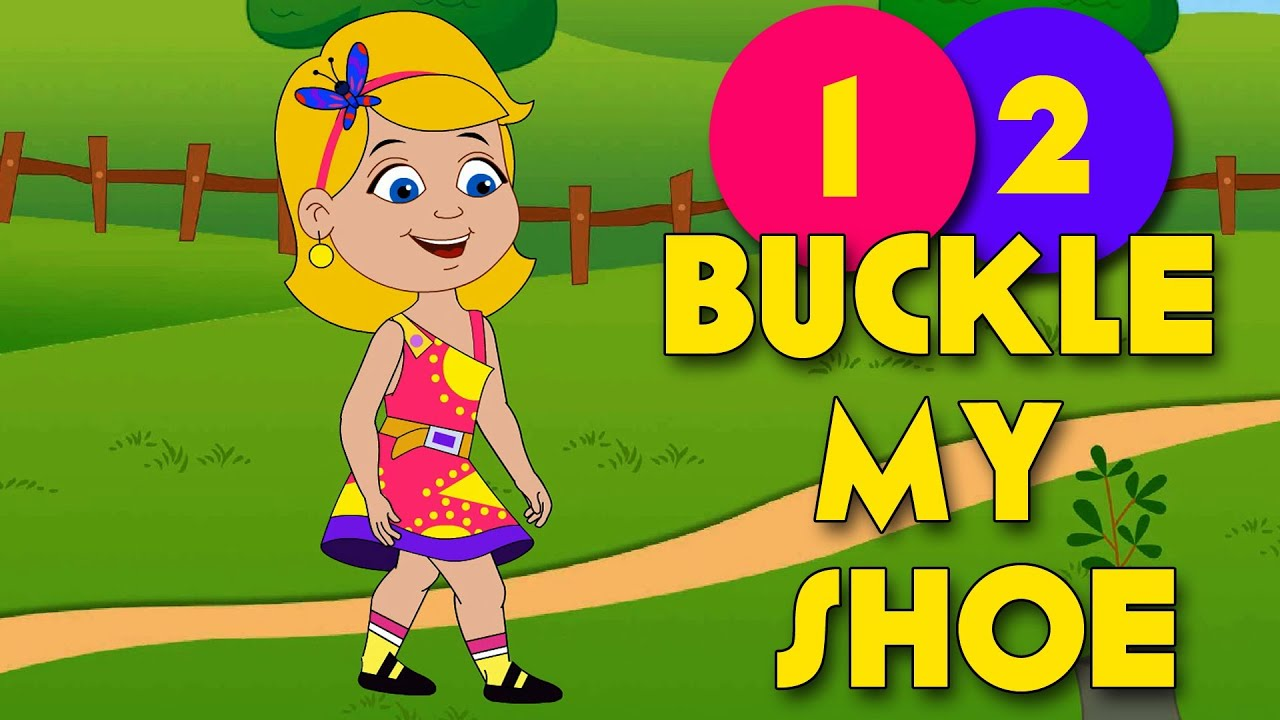 One Two Buckle My Shoe Nursery Rhyme With Lyrics Youtube