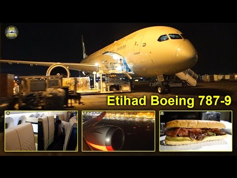 Etihad Boeing 787-9 Dreamliner Business Class, First Class views HOT! [AirClips full flight series]