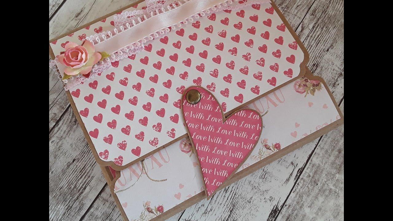 Tutorial scrap mini lbum carpeta f cil san valent n - Album para san valentin ...