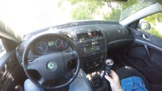 Skoda Octavia 2 1.9 TDI - POV First Time 0-100 km/h