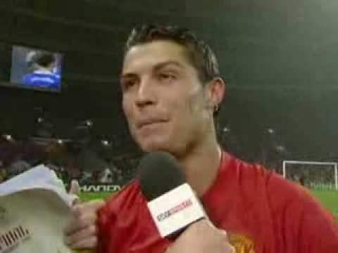 Cristiano Ronaldo Interview after Champions league victory 22nd,May,2008