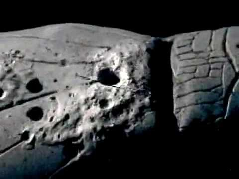 Apollo 20 Alien Spaceship on The Moon CSM Flyover - YouTube